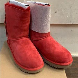 Women's UGG Customizable Bailey Bow Red